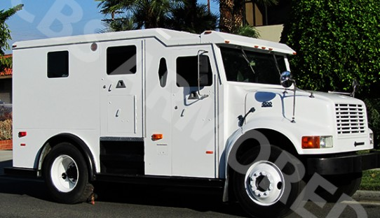 2002 Refurbished International 4700 DT466 Armored Truck