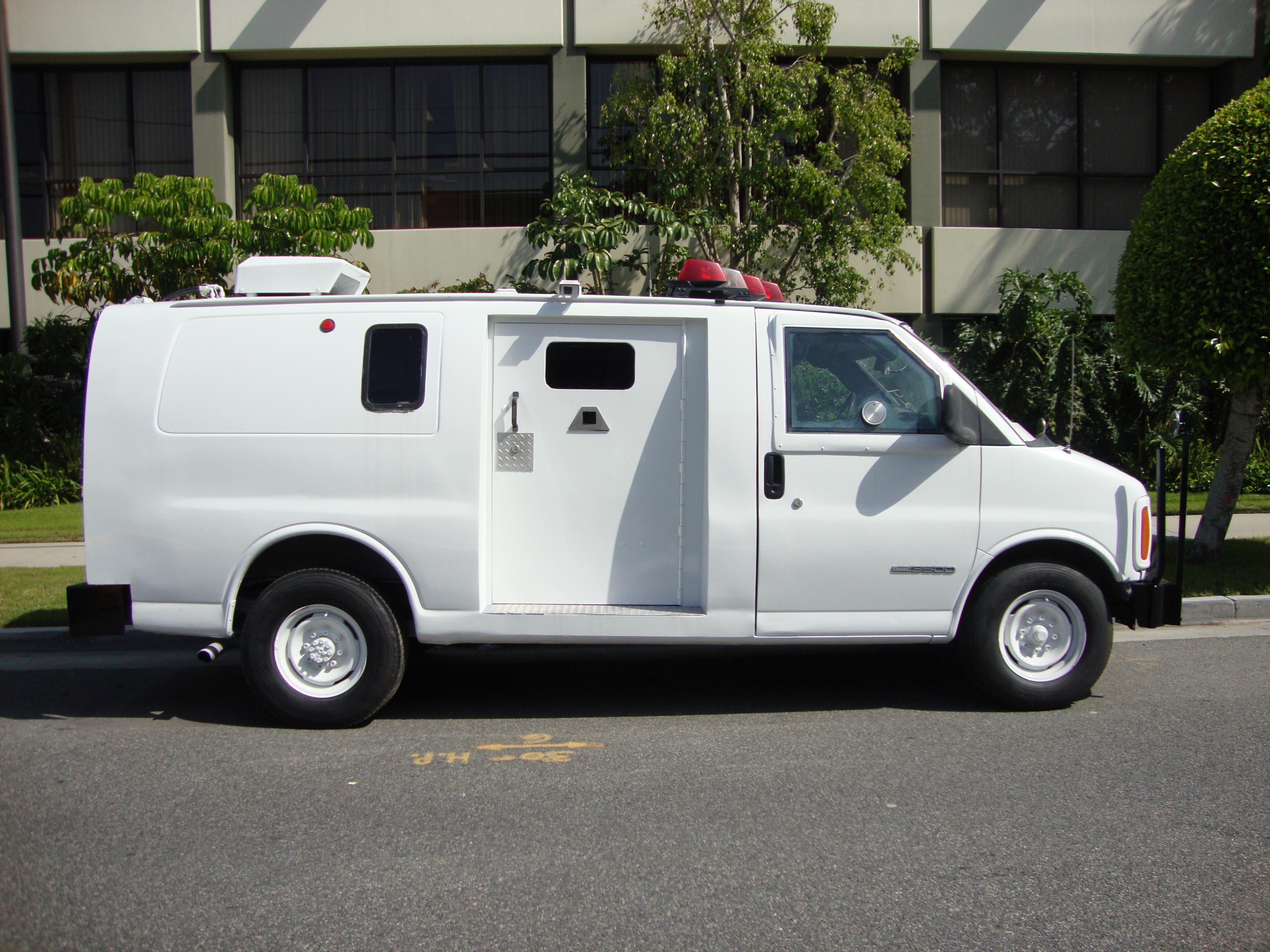 Refurbished GMC 3500 Armored Van Side